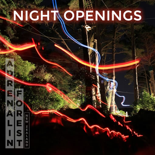 Adrenalin Forest Night openings