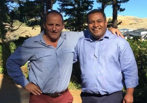Kris Faafoi, Labour's Minister of Tourism New Zealand with Jean Caillabet